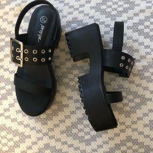 7.5 Nasty Gal platform sandals